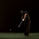 Extension swing Tiger Woods